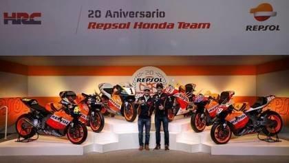 Honda And Repsol Celebrate 20 Years