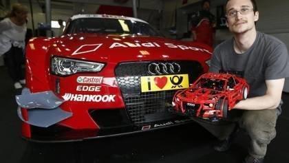 Audi RS5 DTM racecar on Lego Form