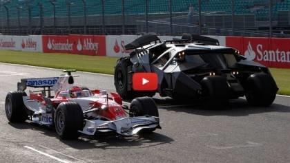 Toyota Formula 1 vs Batmobile