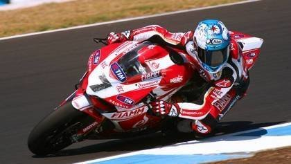 Carlos Checa at Jerez Test with Panigale