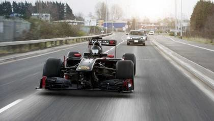 F1 Car on the Street