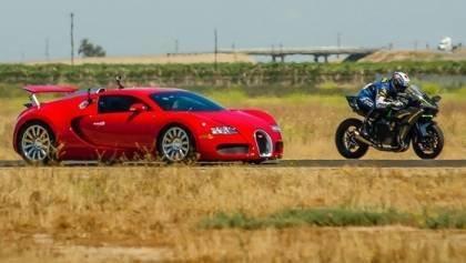 Kawasaki H2R vs Bugatti Veyron SS