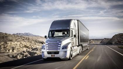 Self driving Freightliner