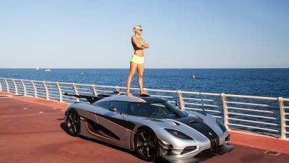 Carina Lima and her Koenigsegg One