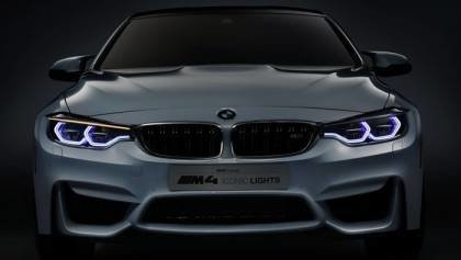 2015 BMW M4 with Iconic Lights