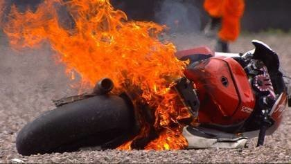 Top Six Fiery Bike Moments
