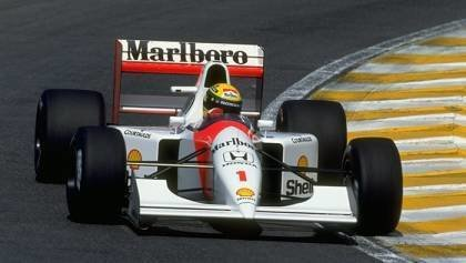 Senna Legendary car driven by Alonso
