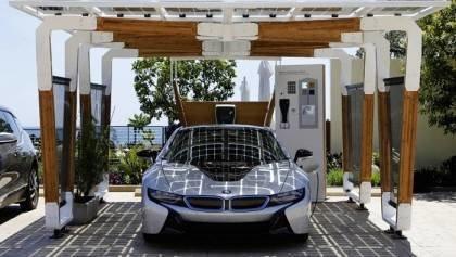BMW Solar Charging Carport