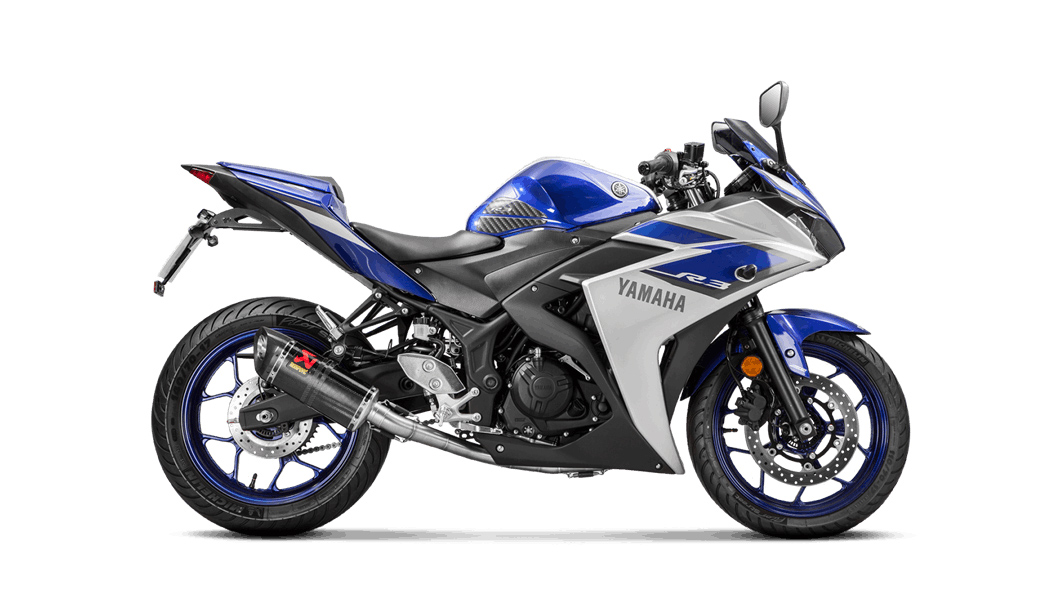 Akrapovic Racing Line Carbon Full Exhaust for Yamaha YZF-R3 (15-16 ...