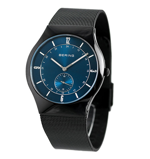 Bering Time Mens Blue and