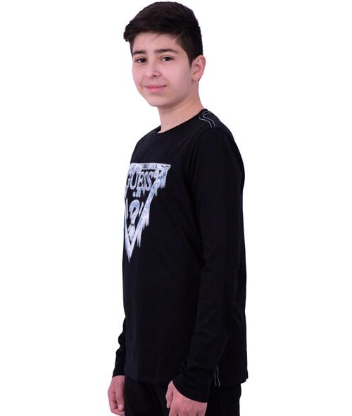 Boy's Logo Print Blouse
