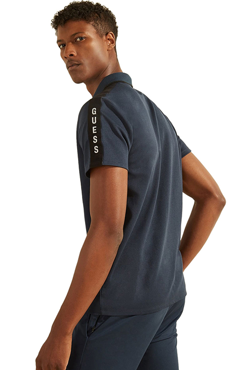 Men's Guess Tape Polo T-S