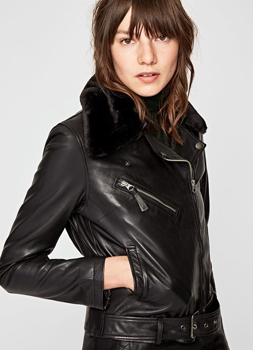 Mariah Leather Biker Jack