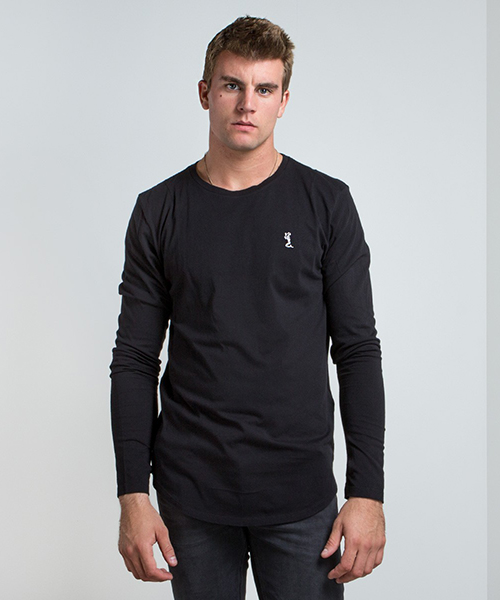 Men's Plain Longline Long