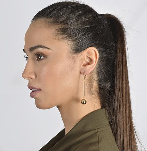 Yellow Gold Pendant Earri