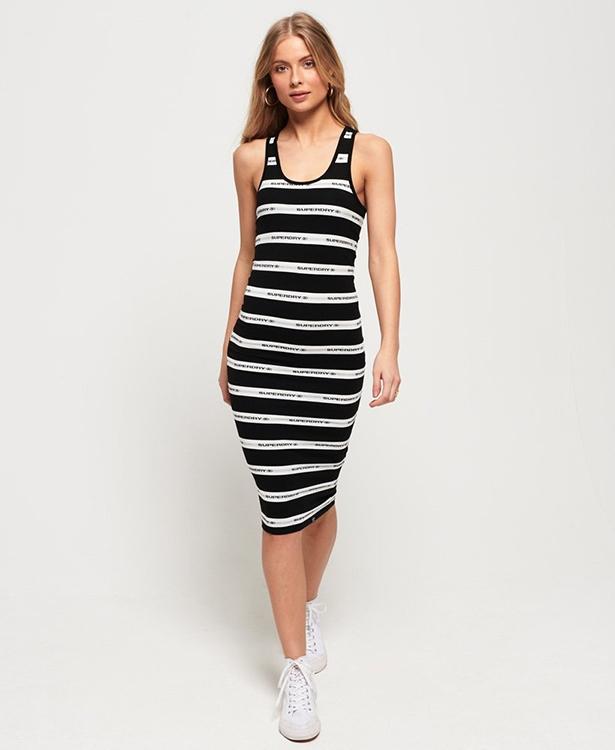 Mila Stripe Midi Dress