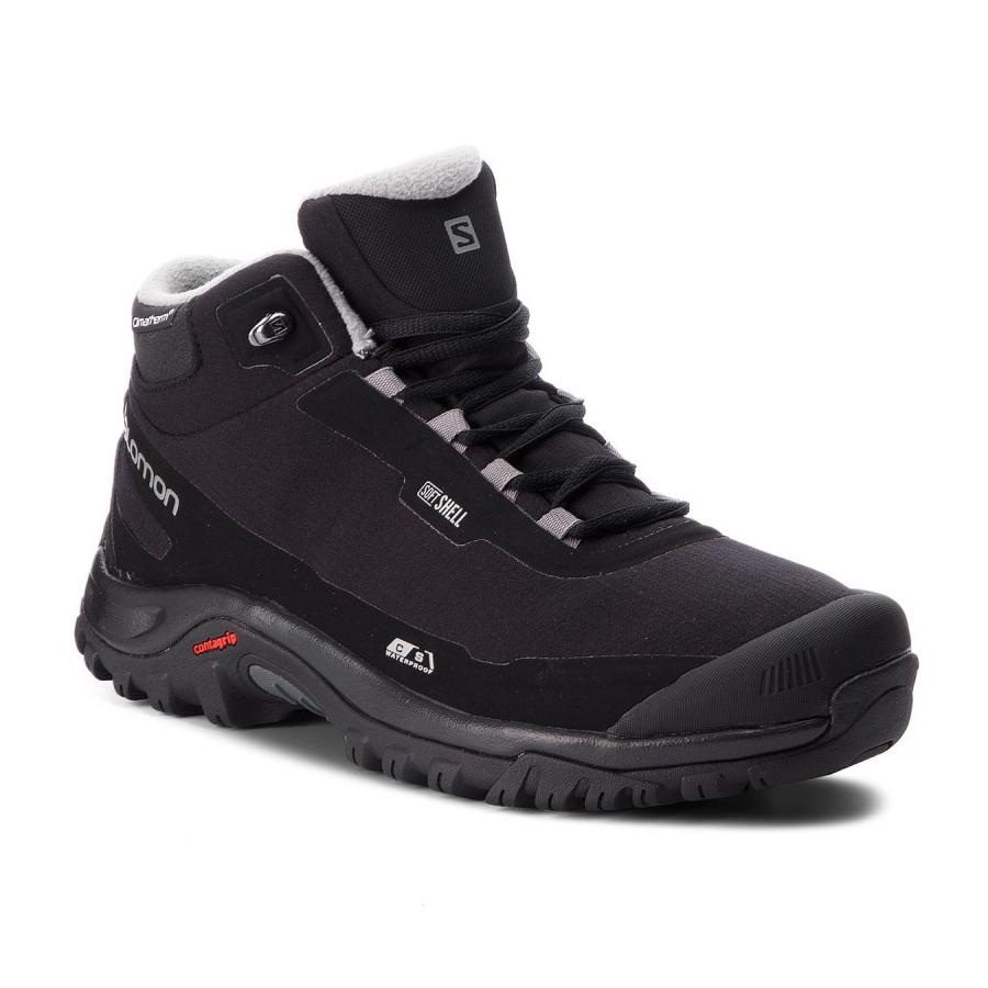Details about Salomon Men's Shelter CS Waterproof Hiking Winter Black Boot L40472900