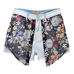 Women's Plate Denim Short