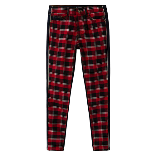 Women's Denim Check Pants
