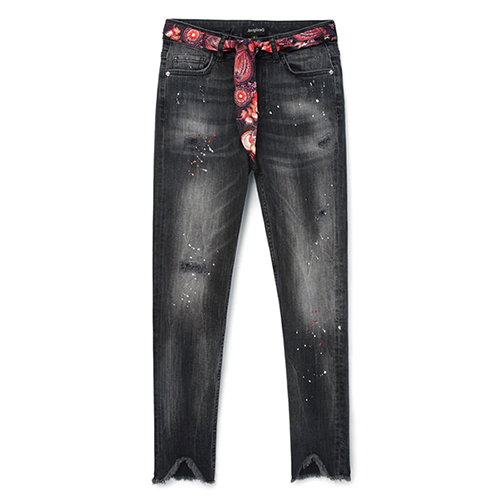 Women's Bow Denim Trouser