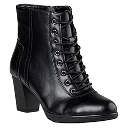 Miss NV Lace Up Booties