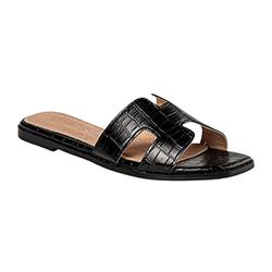 Miss NV Flat Croco Sandal
