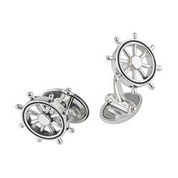 Silver Ship's Wheel Cuffl