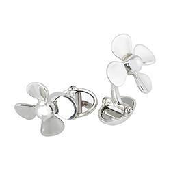 Silver Propeller Cufflink