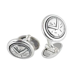 Silver Concentric Cufflin