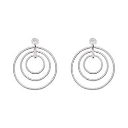 Silver Triple Earrings -