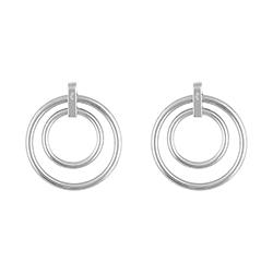 Double Silver Earrings -