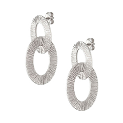 Silver Large Double Earri