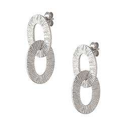 Silver Small Double Earri