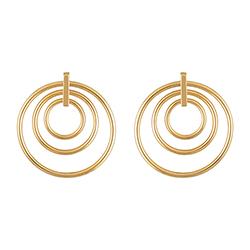 Yellow Gold Triple Earrin