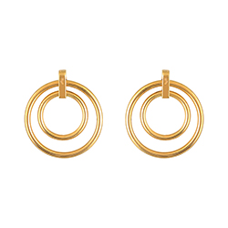 Double Yellow Gold Earrin