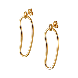 Large Yellow Gold Earring