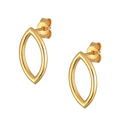 Yellow Gold Single Earrin