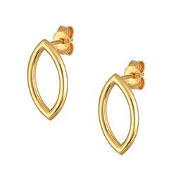 Yellow Gold Single Earrin