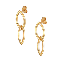 Yellow Gold Double Earrin