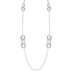 Silver Long Necklace - Li