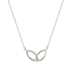 Double Silver Necklace -