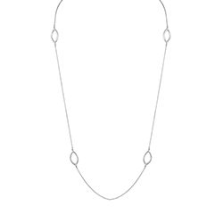 Silver Slim Necklace - Ca