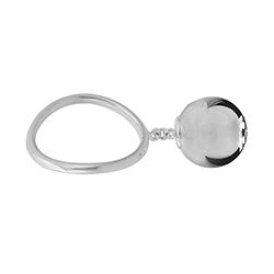 Silver Large Ball Ring -