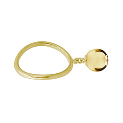 Yellow Gold Small Ball Ri