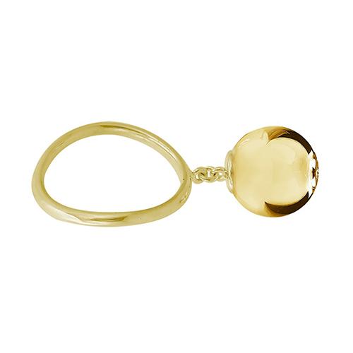 Yellow Gold Large Ball Ri
