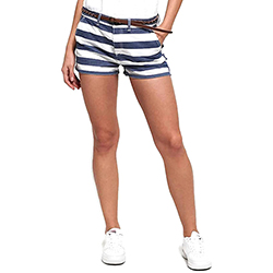 Women's Stripe Chino Shor