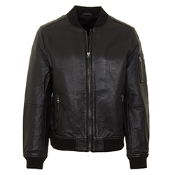 Men's Leather Bomber Jack