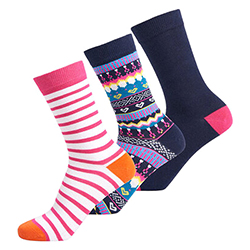 Women's Novelty 3PK Socks