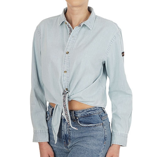 Denim Tie Shirt