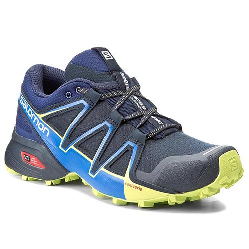 Salomon Mens Speedcross Vario 2 Trail Running Shoes Navy Blazer Trainers Sports